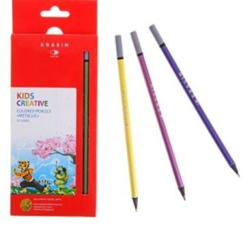 цветные карандаши 12 цветов Панда