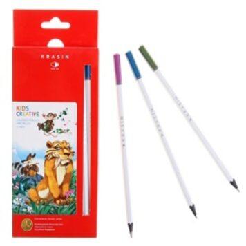 """цветные карандаши 12 цветов """"Планета зверей"""""""