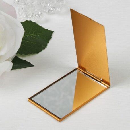 зеркало карманное раскладное под золото