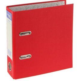 Папка-регистратор А5, красная с торцевым карманом красная