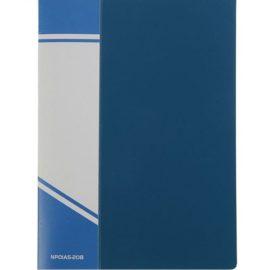 Папка с 20 прозрачными вкладышами синяя, А5