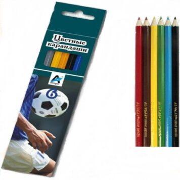 цветные карандаши 6 штук Футбол