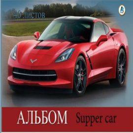 Альбом для рисования А4 40 листов с гоночной машиной