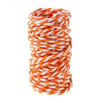 Шпагат декоративный, оранжевый с белым