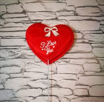 валентинка-сердечко на ножке