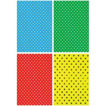 картон цветной Звездочки набор