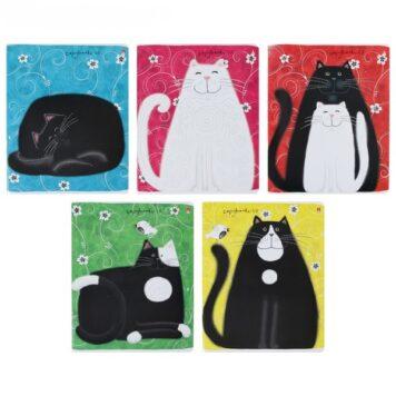 тетрадь 48 листов А5 кошками