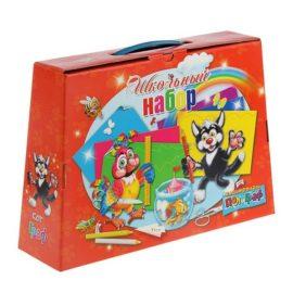 коробка для набора школьника красная
