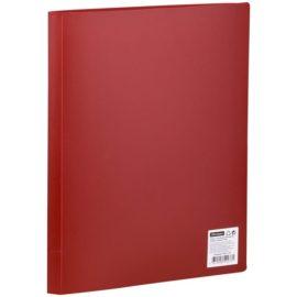 Папка с 10 вкладышами красная, А4, OfficeSpace