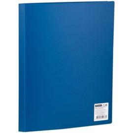 Папка с 10 вкладышами синяя, А4, OfficeSpace