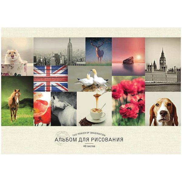 """Альбом для рисования А4, 48 листов,""""Стиль. Mixed collectio"""", ArtSpace"""