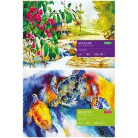 Альбом для акварели А4, 24 листа, на склейке, ArtSpace