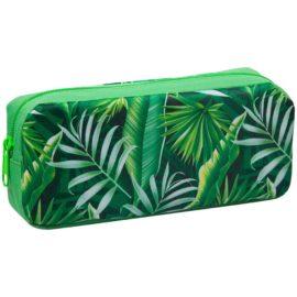 пенал на молнии с тропическими листьями