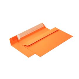 конверт с силиконовой лентой оранжевый однотонный