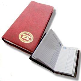 телефонная записная книжка бордовая