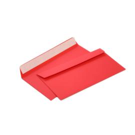 конверт с силиконовой лентой красный однотонный