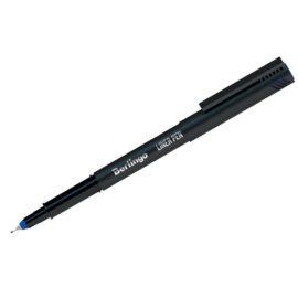 Ручка капиллярная черный корпус, синие чернила