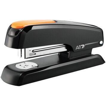 степлер для бумагм 24/6 до 25 листов с оранжевой вставкой