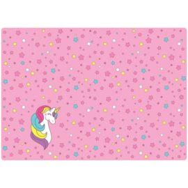 клеенка для уроков труда розовая с единорогом