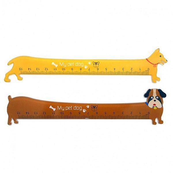 Линейки для черчения в форме собаки 15 см
