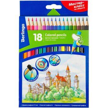 Цветные карандаши 18 цветов Berlingo