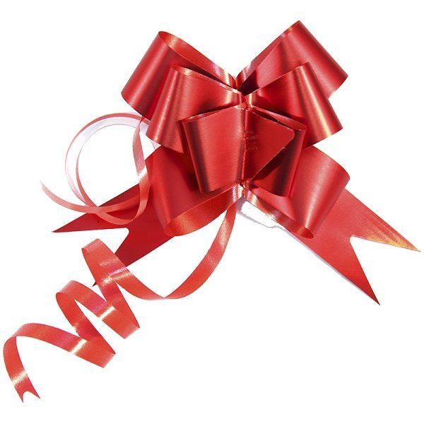 Лента-бант красная для оформления подарков