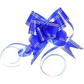Бантик для оформления подарков синий