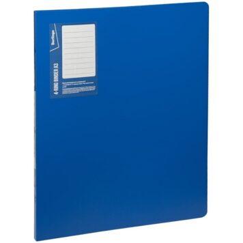 Папка пластиковая на 4-х кольцах А3 формата для хранения перфорированных документов и документов, вложенных в перфофайлы. Вертикальная ориентация