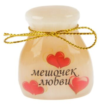 """сувенир из селенита """"Мешочек любви"""""""