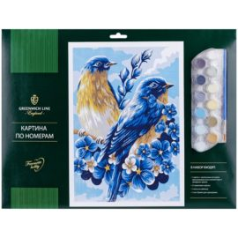 "Картина по номерам ""Весенние птицы"" A3"