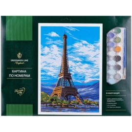 """Картина по номерам """"Париж"""" A3, с красками"""
