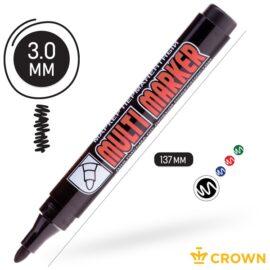 Маркер перманентный черный 3 мм, Crown